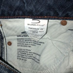 """Silver Jeans Jeans - ***SOLD*** Silver Tuesday 22"""" flare fit 28/35"""